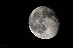Moon, a few days past full, August 2011 (5telios) Tags: moon nikon 300mm nikkor 300mmf45h d3100 nikond3100