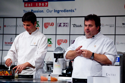 Pierre Hermé teaching his first workshop