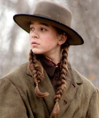 Hailee Steinfeld, a white girl with brown hair, in True Grit