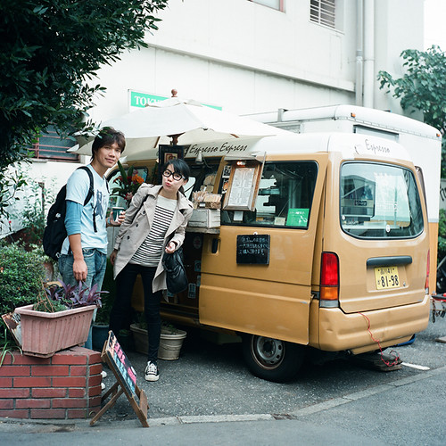 代官山的行動咖啡車