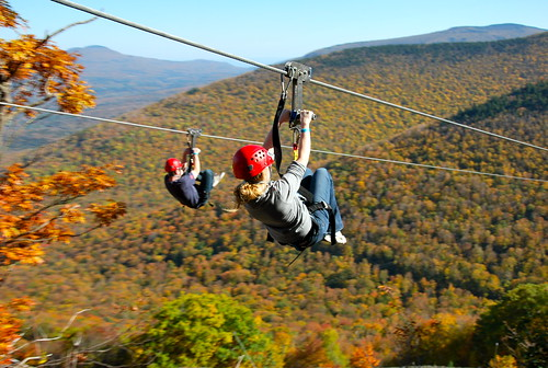 Zip Lining at Hunter Mountain