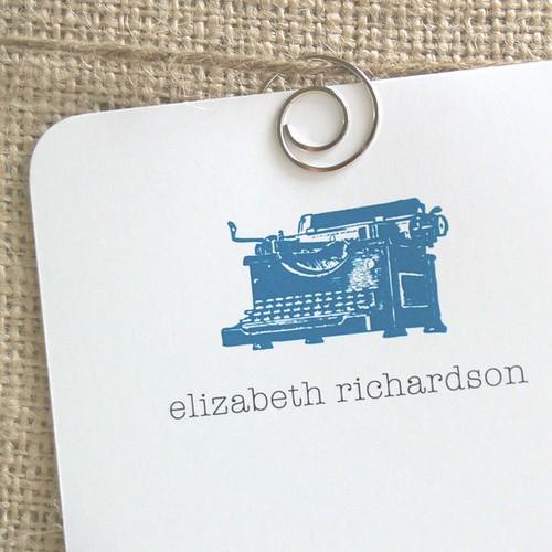 typewriter-notecards