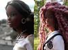before and after - Maitreyi (Alrunia) Tags: dreadlocks toy doll nikki ooak barbie yarn christie asha dreads fashiondoll mattel aa shani reroot caligirl restyle 16thscale playscale