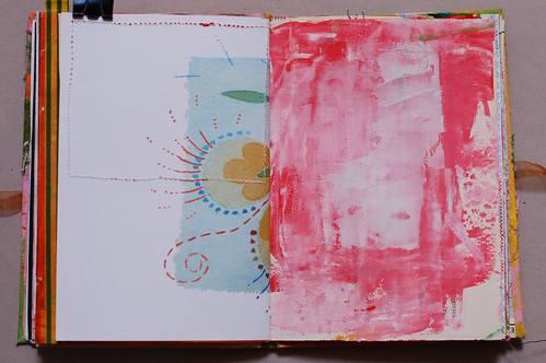 Journal of Scraps I: flower peek