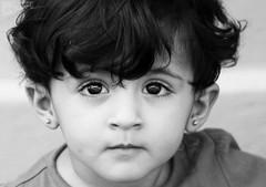 Ritaj ♥ (Saleh Mohammed) Tags: portrait bw black cute girl canon children eos 50mm mohammed saleh محمد بنت d600 صورة صالح طفل اسود كانون ابيض بنوته طفله احادي