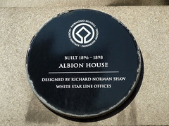 Photo of Oceanic Navigation Company, Albion House, and Richard Norman Shaw black plaque