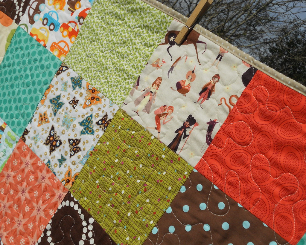 Autumn Baby quilting detail