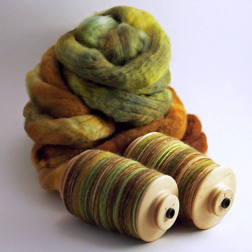 FatCatKnits - BFL - Country Roads - Green Singles