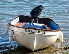 """""""Alice"""" (Lincolnian (Brian) - BUSY, in and out) Tags: uk england water boat alice devon abc salcombe flickrelite"""