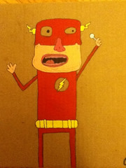 The flash at 90 (Chicago Sketcher) Tags: illustration comic acrylic flash cardboard