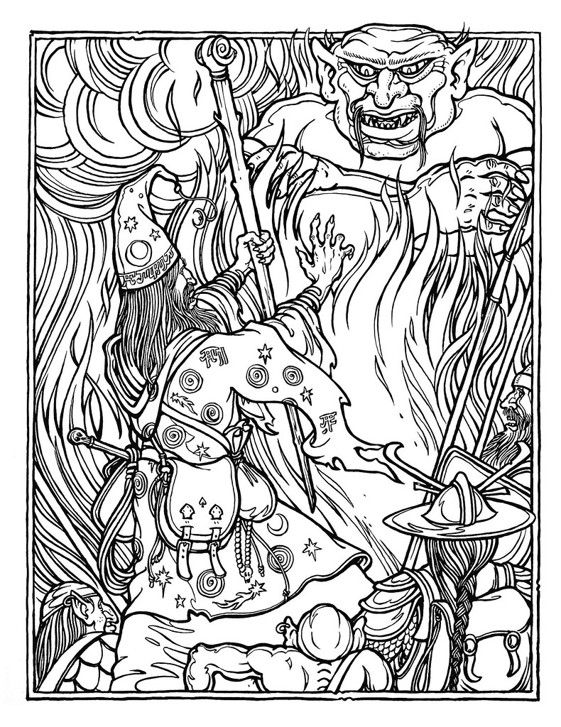 dungeons and dragons coloring pages - photo #19