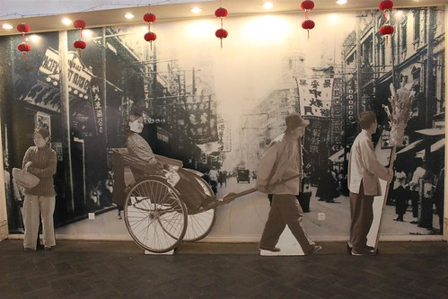 Old Shanghai display at People's Square underground mall, Shanghai, China