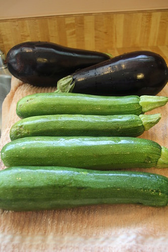 Eggplant and Zucchini
