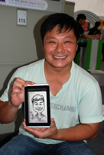 digital caricature live sketching on HTC Flyer for HTC Weekend - Day 2 - 37
