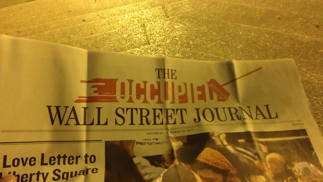 New logo on Issue 3 of the Occupied Wall Street Journal