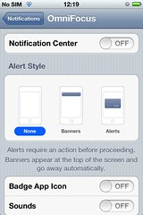 Notification Center preferences