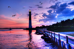 Learning to Fly (Moniza*) Tags: sunset lighthouse sunrise dawn newjersey twilight nikon searchthebest dusk explore barnegat d90 explored moniza landscapeexhibition photographerschoice~halloffame