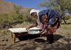 Woman Putting The Cheese She Made On A Plate, Kyzart River, Kyrgyzstan (Eric Lafforgue) Tags: trees people woman horizontal cheese female standing table person one milk asia exterior fulllength plate bluesky centralasia kyrgyzstan leaning homemadecheese humanbeing nomads oneperson colorphoto doughboy kyrgyzrepublic kirghizistan kirgistan lookingatcamera bentdown kirghizstan kirgisistan 0995 قيرغيزستان kyzart nomadiclifestyle киргизия キルギスタン quirguizistão villageofkyzart kyzartvillage kyzartriver