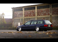 (Andrew Barshinger Photography) Tags: auto blue light color fall car vw canon volkswagen 50mm interesting dof euro fast automotive depthoffield explore f18 dub vrs bagged borbet