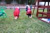 IMG_9064 (drjeeeol) Tags: halloween costume backyard katie superman will superhero cape supergirl triplets toddlers 2011 36monthsold