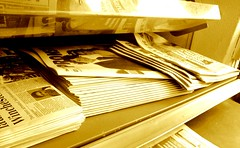 Newspapers yellow
