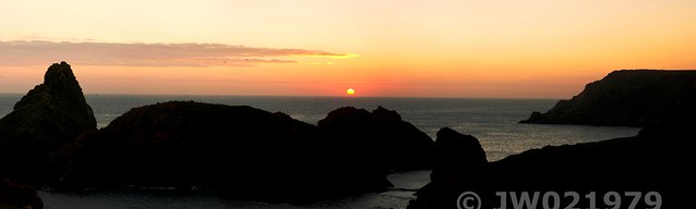 Sunset at Kynance Cove
