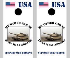 M1A1 Abrams Tank Cornhole Boards