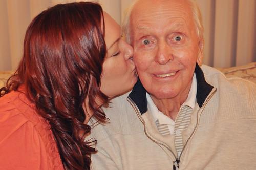 Kristi Kissing Gramps Oct 2011