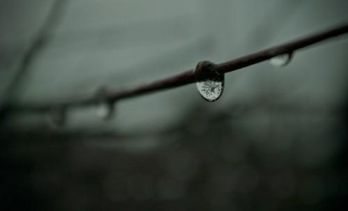 Frozen raindrop