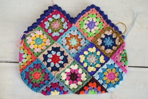 crochet done for granny bag