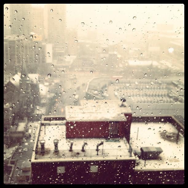 Drops, snow behind. #NYC