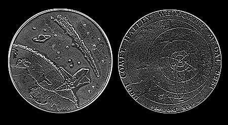 Halleys Comet Medal
