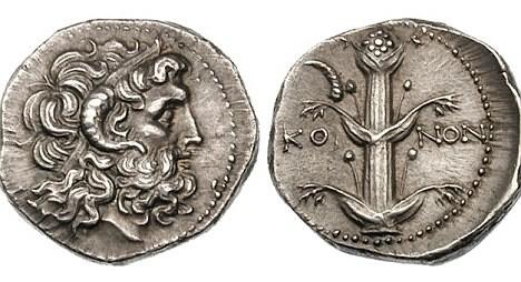 Treasure of Benghazi silver didrachm