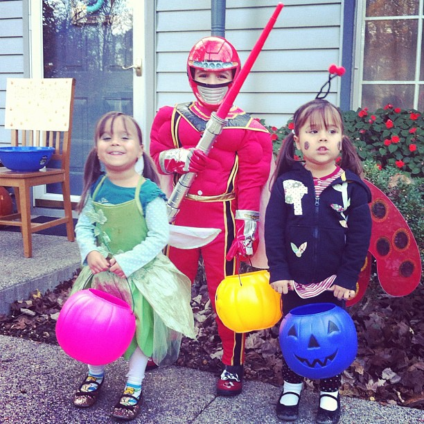 Tinker Bell, Red Ranger and Lady Bug ready to action!