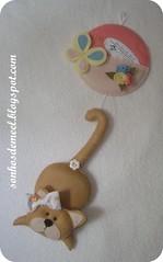 Porta-recados... (Sonhos de Mel '  Dio Miranda) Tags: gato portarecados gatinhaemfeltro