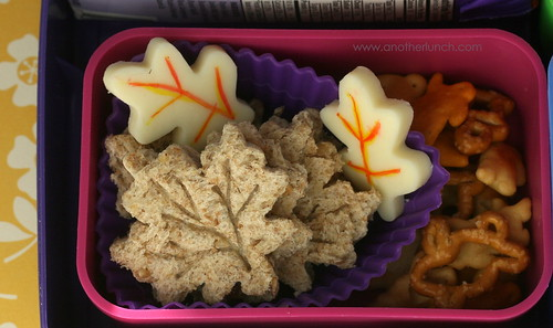 fall leaves sandwiches in Laptop Lunches