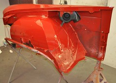 "1956 Series 62 Red Convertible Cadillac restoration • <a style=""font-size:0.8em;"" href=""http://www.flickr.com/photos/85572005@N00/6303513826/"" target=""_blank"">View on Flickr</a>"