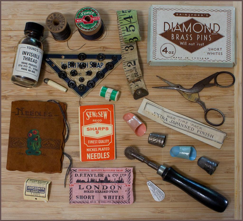 Vintage sewing items