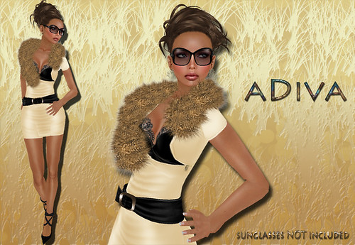 aDiva couture Mag Fur Dress