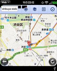 Google Maps via Browser