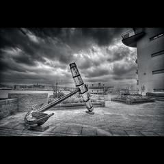 anchor (slaskpelle) Tags: sea sky urban bw white black monochrome canon gteborg landscape raw sweden gothenburg sigma scene handheld sverige 1020 processed hdr lucisart 10mm photomatix hisingen tonemapped 1000d canon1000d