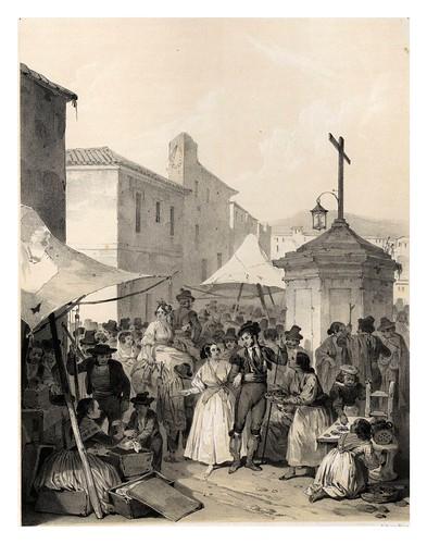 006-La feria de Mairena-España artística y monumental..Tomo I- 1842-1850-Genaro Perez de Villa-Amil