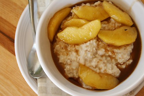 oatmeal maple sauteed apples 6