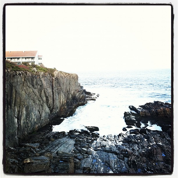 Rocky coast of Maine.