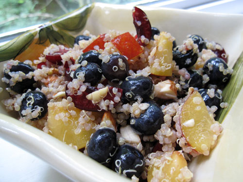 eat me, delicious: High Protein Quinoa Almond Fruit Salad