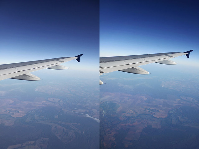 airplane window diptych 2