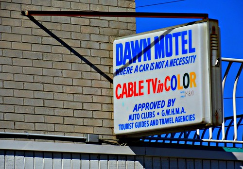 Dawn Motel Sign Wildwood, NJ