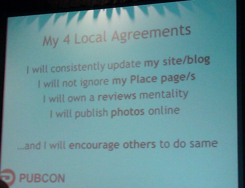 Pubcon Local Search Rankings Session