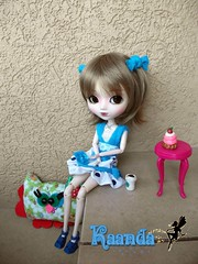 Mejor me tomo mi caf... (KaandaMoon) Tags: dolls dress handmade clothes boutique pullip blanche vestidos accesorios kekas kekitas