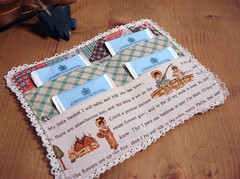 Antique Version Inside (listen to the birds sing) Tags: pouch patchwork tutorial teawallet